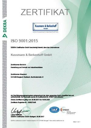 Wir sind DIN ISO verifiziert