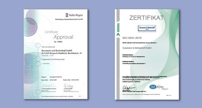 Unsere aktuellen Zertifikate